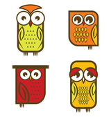 Owl collection — Stock Vector