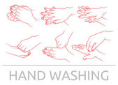 Hands washing — Stock Vector