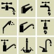 Water tap icons — Stock Vector #47089607