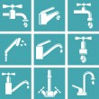 Water tap icons — Stock Vector #47168271