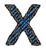 Jeans alphabet letter — ストックベクタ