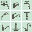 Water tap icons — Stock Vector #50203729