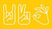 Dłoń ikony zestaw — Wektor stockowy