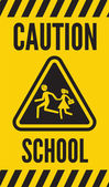 Warning school sign — Stock Vector