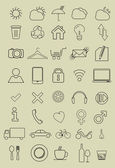 Set of thin icons — Stock Vector