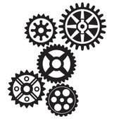 Growing gears — Stock Vector