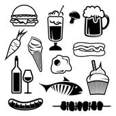 Food set icons — Stock Vector
