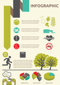 Healthy lifestyle infographic — Vetorial Stock