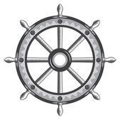 Old ship wheel icon — Stock Vector