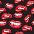 Lips seamless pattern — Stock Vector #50628391