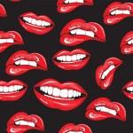 Lips seamless pattern — Stock Vector