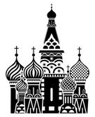 Moscow symbol - Saint Basil's Cathedral, Russia — Stock Vector