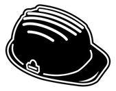 Construction helmet - under construction sign — Stock Vector