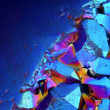 Extreme sharp and detailed surface of Titanium Aura Crystal Cluster stone at 20x magnification taken with Mitutoyo microscope objective — Stock Photo