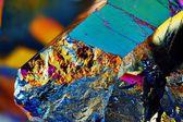 Titanium rainbow aura quartz crystal — Stock Photo
