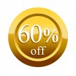 60  percent discount icon — Stock Photo #45296919