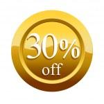 30 percent discount icon — Stock Photo #45296905