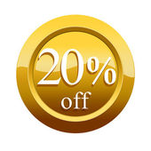 20 percent discount icon — Stock Photo