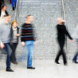 Royalty-Free Stock Photo: Commuters Walking Up Stairs, Motion Blur