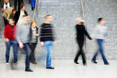 Commuters Walking Up Stairs, Motion Blur — Stockfoto