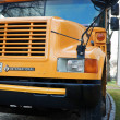 Stock Photo: Front of Yellow School Bus