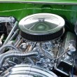 Stock Photo: Close-up of Car's Engine, AmericClassic Car