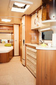 Interior of Modern Camper — Stock Photo