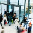 Group of People Walking in Shopping Centre, Motion Blur — Stock Photo