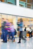 Intentional Blurred Image of People in Shopping Center — Stock Photo