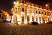 Street in Ostrow Tumski at Night, Wroclaw, Poland — Stock Photo