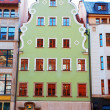 Facade of historical tenement — Stock Photo