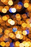 Defocus of Golden Lights — Stock Photo
