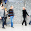 Commuters Walking Up Stairs, Motion Blur — Stock Photo #34494547