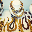 Stock Photo: Various Amber Necklaces