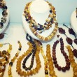 Various Amber Necklaces — Stock Photo #34509699