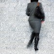 Businesswoman Walking Up Stairs, Motion Blur — Stock Photo #35792325