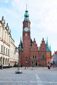 Market Square and the Town Hall in Wroclaw, Poland — Stock Photo