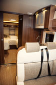 Living Quarters in Luxury Motorhome — Stock Photo