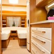 Stock Photo: Bedroom Interior of Mobile Home