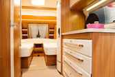 Bedroom Interior of Mobile Home — Stock Photo