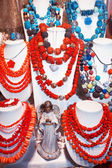 Various Coral Necklaces — Stock Photo