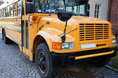 Front of Yellow School Bus — Stok fotoğraf