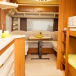 Dining Space in Modern Motorhome — Stock Photo #40813631