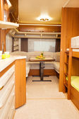 Dining Space in Modern Motorhome — Stock Photo