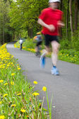 Runner in the country — Stock Photo