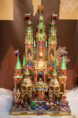 Nativity Scene on Christmas Crib — Стоковое фото