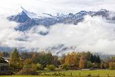 Alps in Fog — Foto Stock