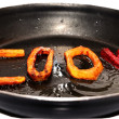 Stock Photo: Fried vegetables in pan