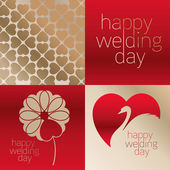 Happy Wedding Day Vector Clip Art — Stock Vector