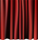 Red curtain for the stage. Editable vector meshes. — Stock Vector
